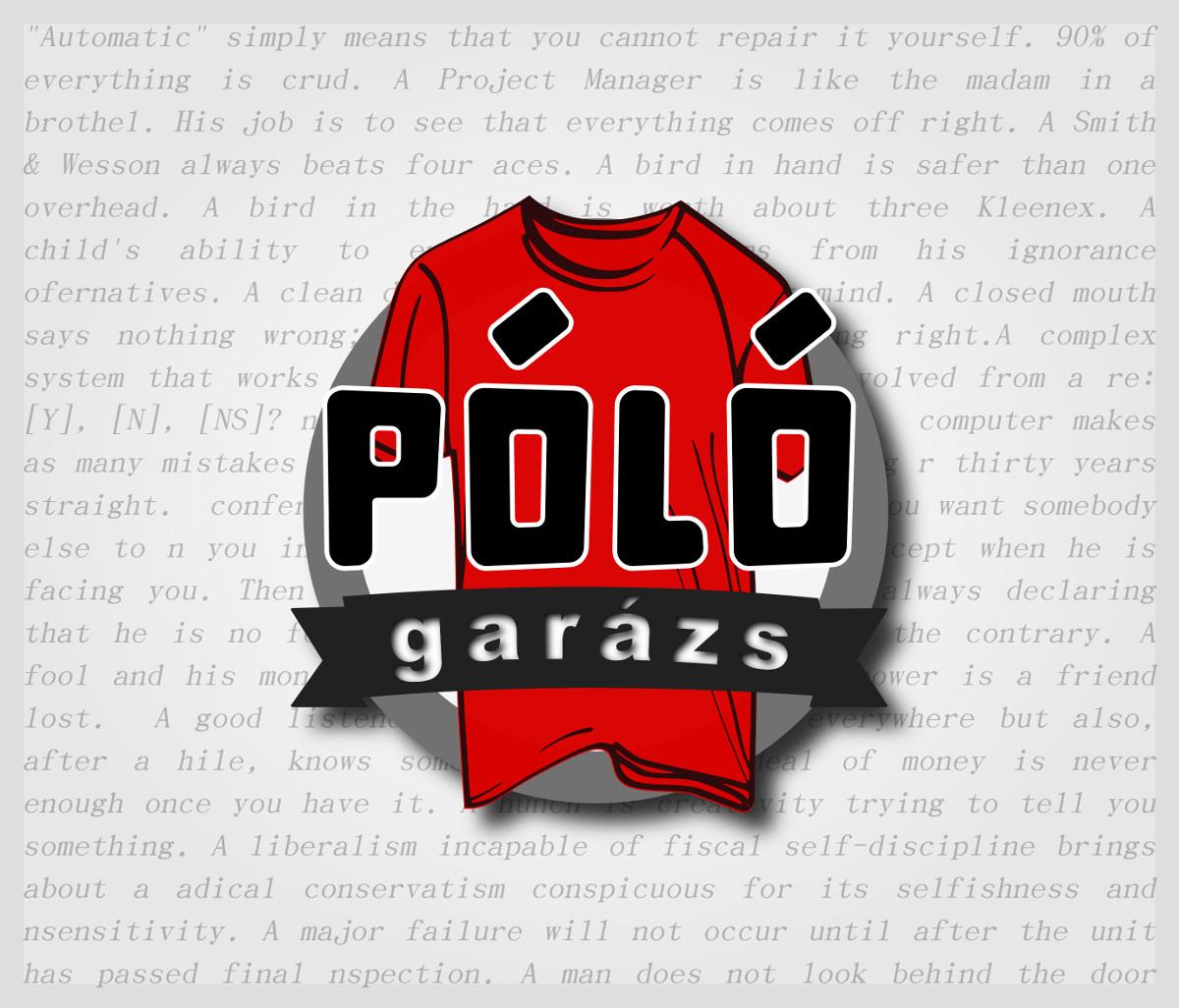 8a5abd39ed Főoldal - PólóGarázs - Autós pólók, filmes pólók, kocka pólók