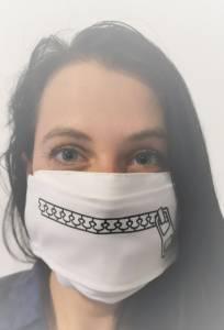 Cipzáras száj - Egyedi textil szájmaszk cserélhető cipzár mintával kép