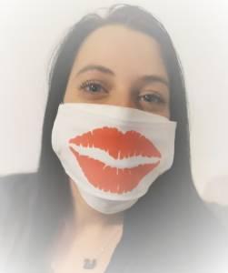 Csókos száj - Egyedi textil szájmaszk, cserélhető mintával kép