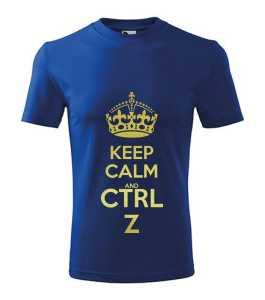 Keep Calm - CTRL + Z póló kép