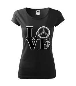 Love Mercedes logó 2 póló kép