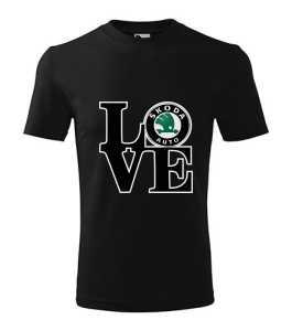 Love Skoda logó póló kép