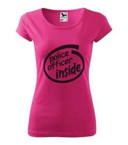 Rendőr inside - Police inside vicces rendőr póló kép