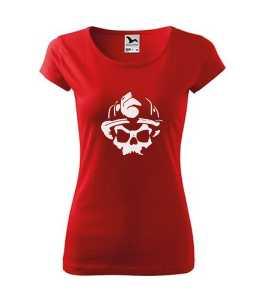 Tűzoltó koponya mintás szakma-póló kép